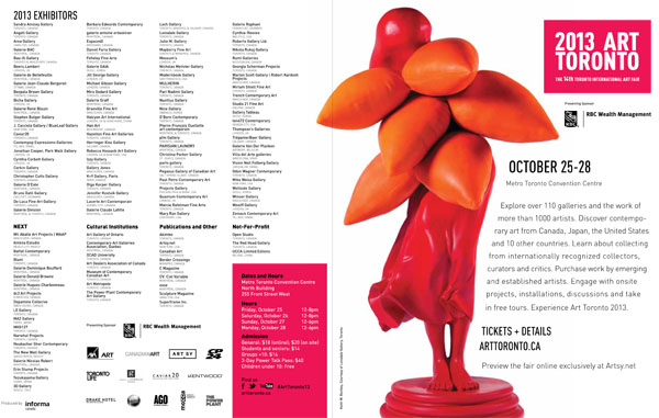 Toronto International Art Fair Program - 2013-1